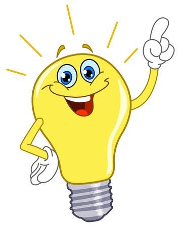 yellow bulb - idea