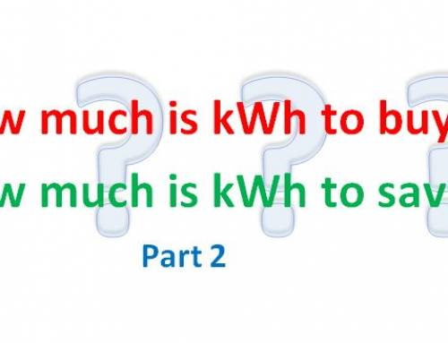 What is the value of saved kWh at your plant?