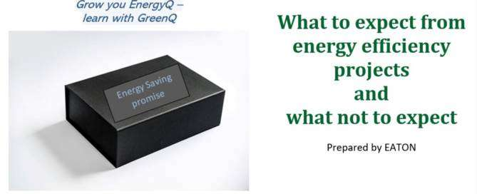 Cover to post What to expect from energy efficiency projects and what not to expect – EATON